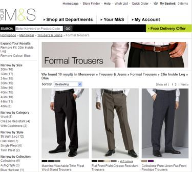 M&S trouser search