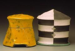 Karl Borgeson jars raku (clayglazepots) Tags: ceramics contemporary karl jars raku borgeson uww