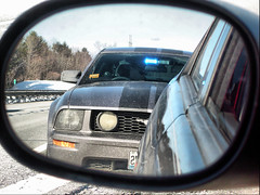 Unmarked State Trooper (Just Us 3) Tags: reflection ford warning maine blues creativecommons mustang phew statetrooper statepolice unmarked statie mainestatepolice