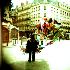 Jacobins (ninja12) Tags: france train balloons holga xpro lomography xprocess lyon railway agfa rsx