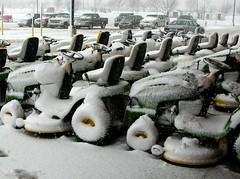 snow oops johndeere lawnmowers