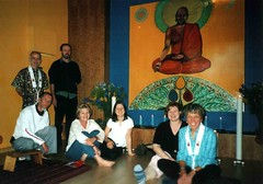 Johannesburg Centre sangha and new Buddha painting