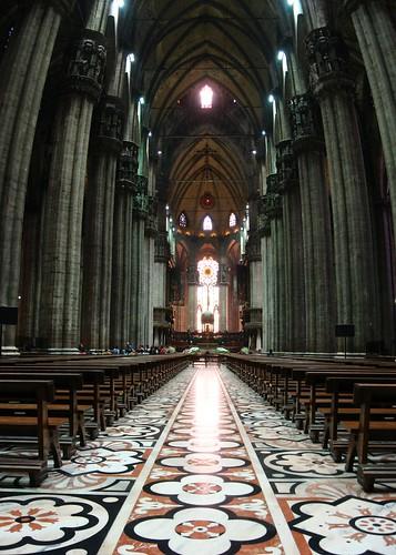 Inside of Il Duomo di Milano, Milano, Italy