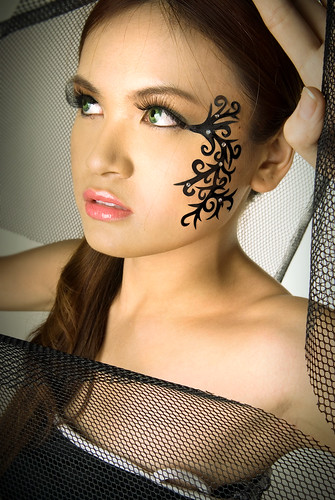 Henna girl tattoo design