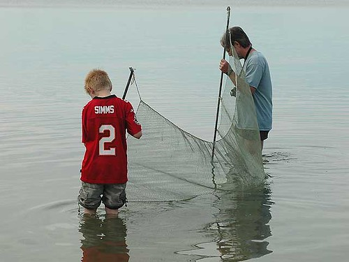McCamping Kieth and son seine netting.