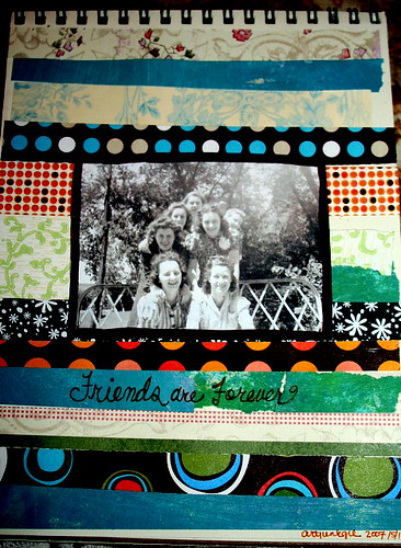 friends are forever-scrap collage in journal
