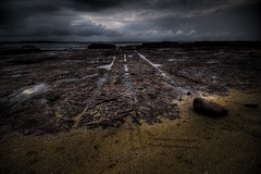 Straight Lines (alexkess) Tags: ocean sea seascape dice lava nikon rocks pattern shoreline australia pools nsw d200 volcanic hdr wollongong lightroom illawarra shellharbour 3xp photomatix ultimateshot