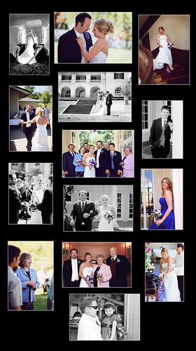 Caron and Brad Wedding Collage