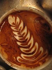 still in the biz (Mr. phelps) Tags: art texture coffee milk leaf mocha espresso latte latteart rosetta freepour