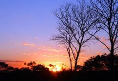 Por do sol em Brasília