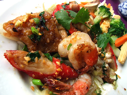 Crown Thai - Garlic seafood