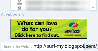 Perodua Viva ad on Windows Live Messenger
