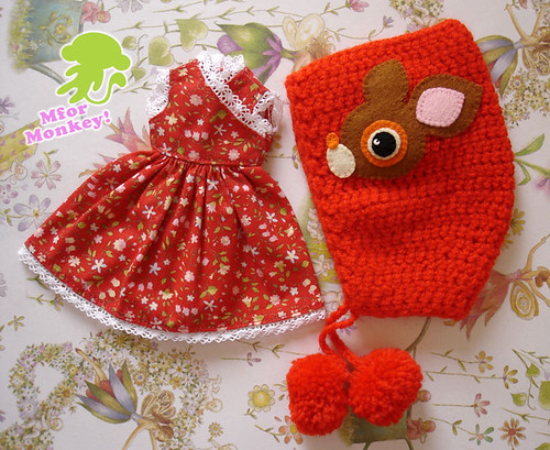 MFM Red dress and hoodie Set