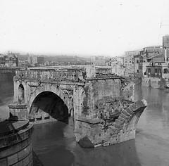 Rome, Italy - Emilius Bridge (Notre Dame Architecture Library) Tags: bridge italy rome architecture library slide notredame lantern architecturelibrary emilius
