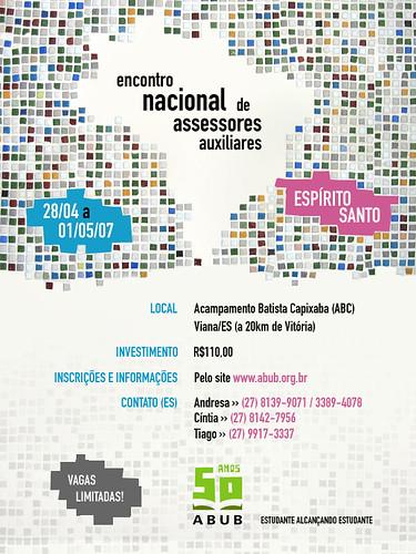 ABUB - Encontro de Assessores - Cartaz por Tiago da Costa | Design Gráfico.