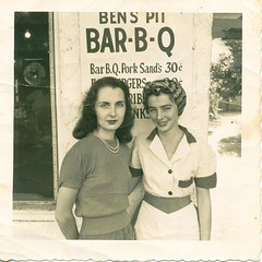 The First Ben's Bar B Cue  Mom (Mrs  Ben Smith) and a waitress