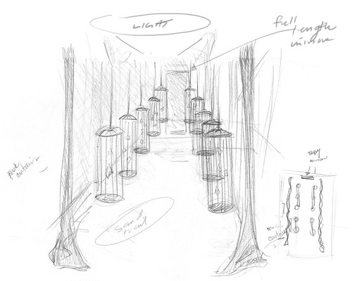 Preliminary sketches: Show Installation