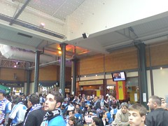 Within Merchant Square with Espanyol fans