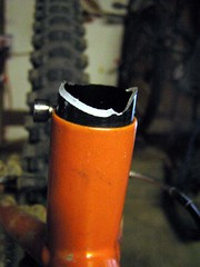 Broken seatpost