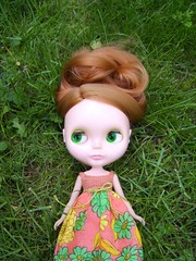 Gwyneth (Brentments) Tags: vintage outdoors spring doll dress bright gorgeous redhead creation kenner blythe fabulous boho 1972 2007 gwyneth sidepart dolluxe