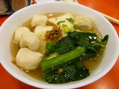 3日目夕飯 魚肉団子麺 in 榮華茶餐廳(尖沙咀)
