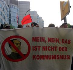 Kundgebung China Kommunismus