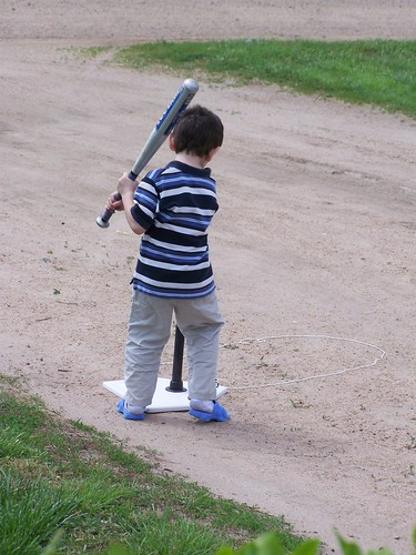 Practicing T-ball