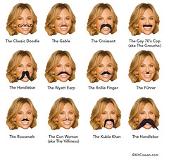 What type of Mustache for Elisabeth Hasselbeck?