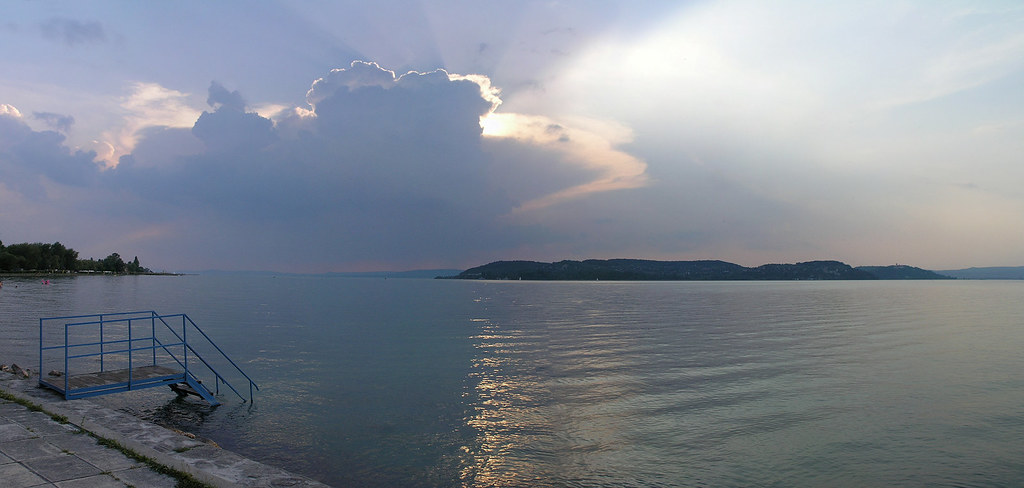 Balaton - a panorama from Zamardi
