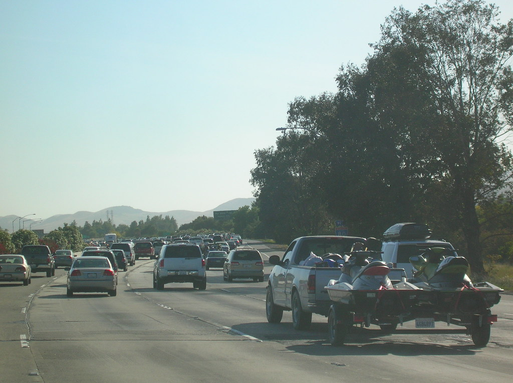 Memorial Day Traffic on I-80, California