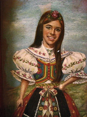 Folk art Czech girl