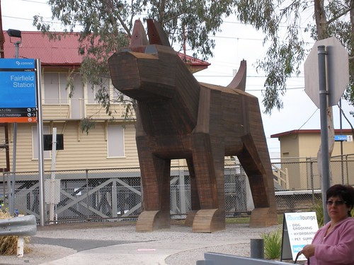 Fairfield dog sculpture