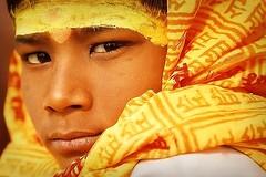 Being Indian (fredcan) Tags: travel portrait india child religion hinduism sadhu allahabad theface uttarpradesh kumbhmela indianportraits