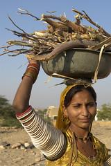 Jaisalmer woman (bjornra) Tags: woman india working jaisalmer noseringthefeminine