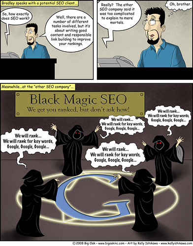 Black Magic SEO, SEO Comic by ByronShell.