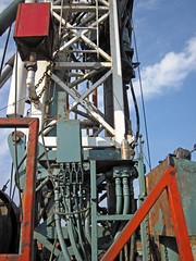 Drilling rig at Hendren Century Farms # 2 petroleum well (north of Johnstown, Ohio, USA) 16 (James St. John) Tags: hendren century farms 2 well petroleum oil natural gas johnstown ohio licking county knox unconformity wellsite drilling rig site