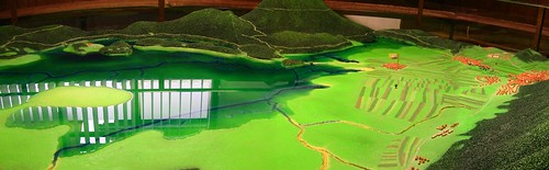 Model of Cerknica Lake in Dolenje Jezero, Slovenia