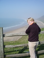 Alice at Rhossili, Gower