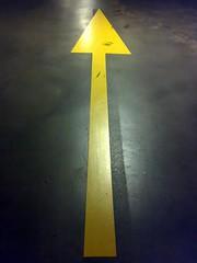 Arrow (The Wolf) Tags: yellow arrow carpark