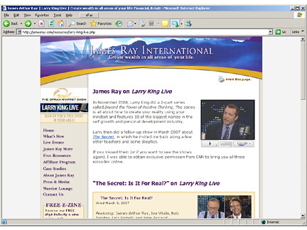 James Ray King interviews