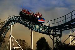 Fast Ride! (Navarroe) Tags: park sky speed fun amusement ride fear guadalajara rail riding cart shout selvamgica