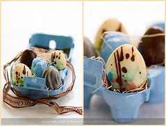Happy Easter Eggs (La tartine gourmande) Tags: blue easter chocolate egg april 2007