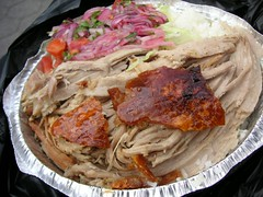 carnitas and rice, spanish food cart, 106 and amsterdam, upper west side