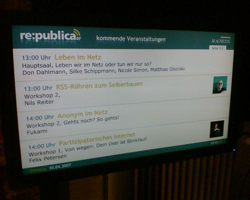 re:publica - elektronischer Wegweise