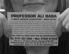 Ali Baba (monkeyiron) Tags: media witch glasgow ali card doctor medium southside professor baba clairvoyant msh0607 msh060713