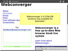 olpc web browser pointing to Webconverger