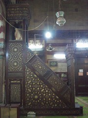 Minbar, Qaytbay complex (1474) (helen_romberg) Tags: architecture egypt mosque medieval historic cairo cityofthedead islamiccairo northerncemetery amribnalas qaytbay