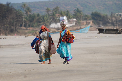 Beach peddlers, Mandrem beach, Goa, India by Paul Mannix.