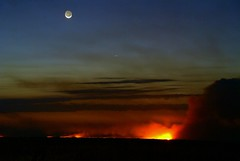 Everglades Fires at Dusk - by MrClean1982
