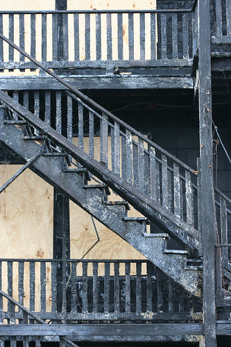 Burned staircase